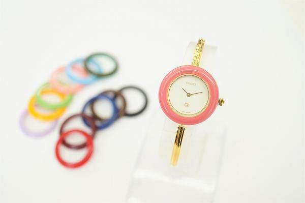 グッチ チェンジベゼル11/12色SS腕時計