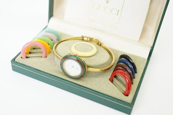 グッチ 1100-Lチェンジベゼル12色SS腕時計