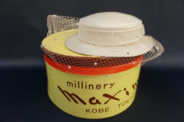 マキシン レースシルクベール帽子
