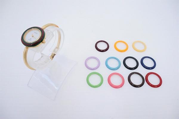 グッチ チェンジベゼル12色クオーツ腕時計