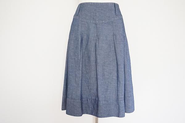 バーバリー 麻混スカート