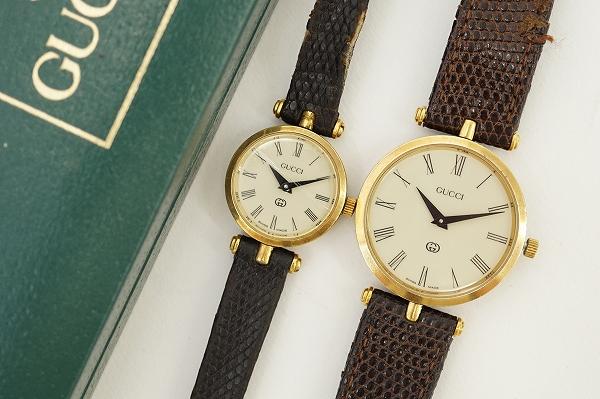 グッチ シェリーライン2040M2040L腕時計セット