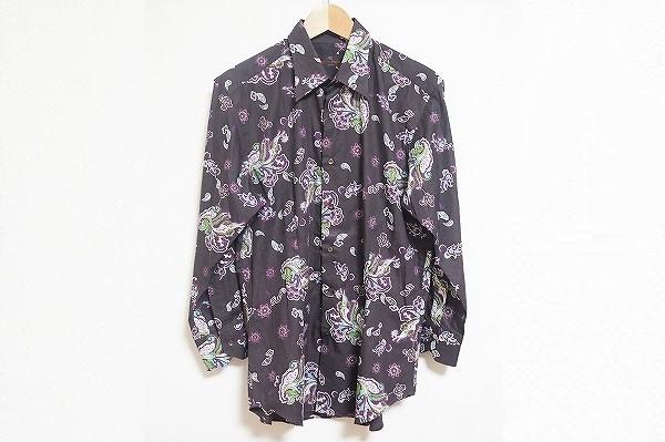 エトロ ペイズリー柄長袖シャツ