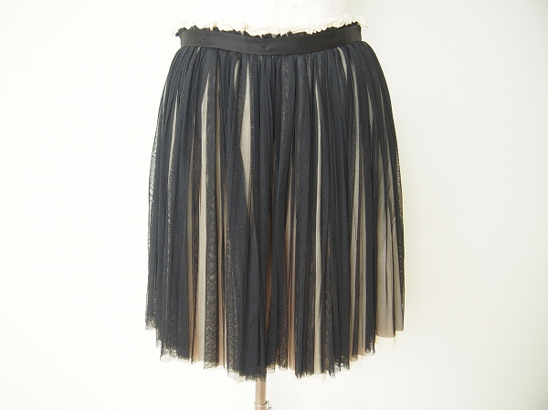 ドルチェ&ガッバーナ プリーツシルクスカート