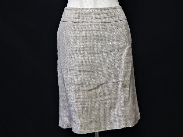 マックスマーラ 麻混スカート