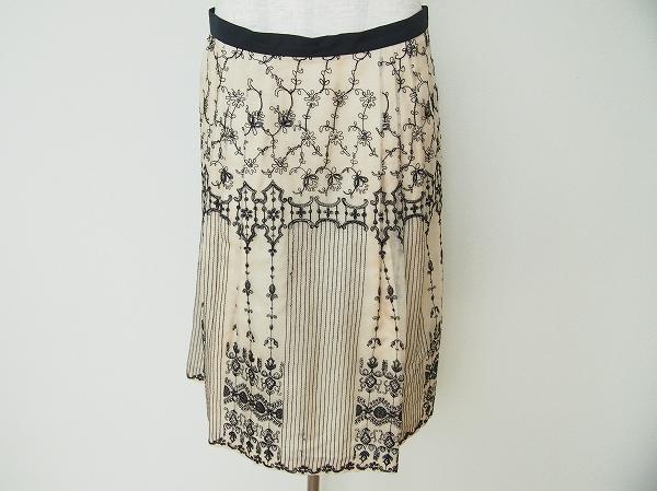 マックスマーラ シルク刺繍スカート