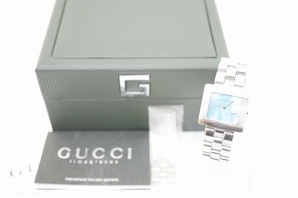 グッチ Gウォッチブルーシェル3600Jクオーツ腕時計