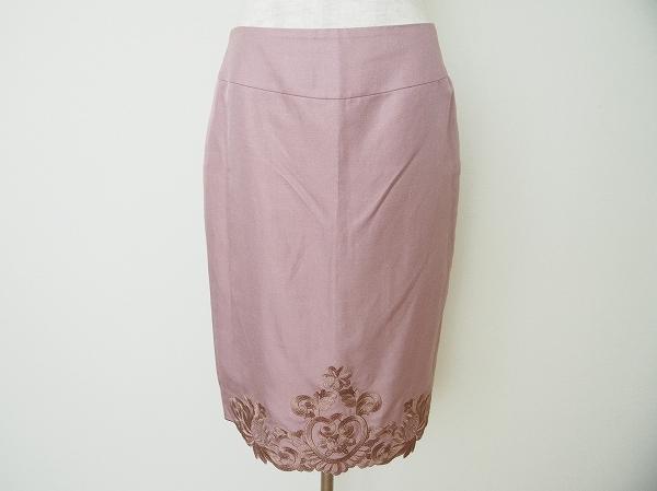 ヴィヴィアンタム 刺繍麻混スカート