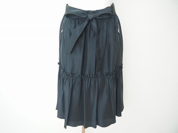 コトゥー リボンシルクスカート