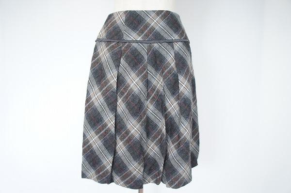 ヒロココシノ タータンチェックバルーンスカート