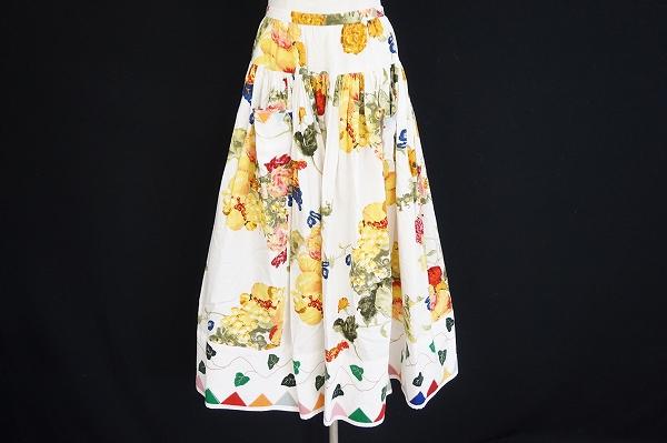 ピンクハウス フルーツ柄スカート